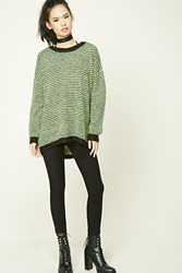 Forever 21 No Grey Area Sweater Black Neon Yellow