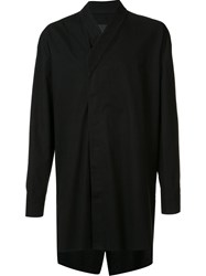 D Gnak Long Wrap Shirt Black