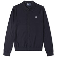 Fred Perry Fine Merino Knitted Shirt Blue