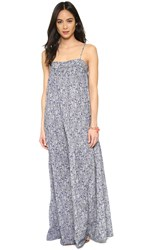 Nili Lotan Maxi Peasant Dress Marine Blue