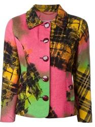 Moschino Vintage Jacquard Button Jacket Multicolour
