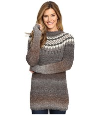 Woolrich Roundtrip Ii Fairisle Crew Heddle Multi Women's Long Sleeve Pullover Gray