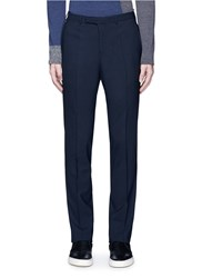 Armani Collezioni Virgin Wool Pants Blue