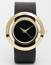 Asos Open Circle Black Face Watch