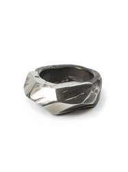 Lost And Found Faceted Ring Metallic