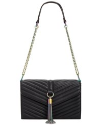 Inc International Concepts Yvvon Crossbody Only At Macy's Black Oil Spill