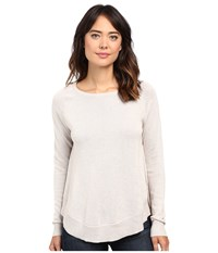 Lilla P Cotton Modal Raglan Sleeve Swing Sweater Barley Women's Sweater Brown