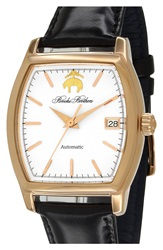 Brooks Brothers 'Core' Automatic Leather Strap Watch 36Mm
