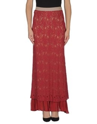 Jucca Long Skirts Brick Red