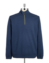 Tommy Bahama Reversible Zip Up Pullover Deep Blue