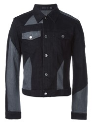 Blk Dnm Contrast Denim Jacket Black