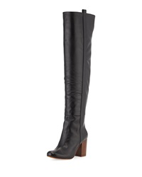 Vc Signature Kylar Leather Over The Knee Boot Black