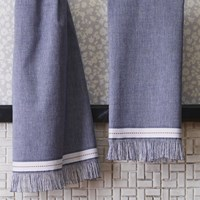 Cb2 The Hill Side Selvedge Navy Hand Towel