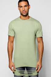 Boohoo Ripped T Shirt Olive