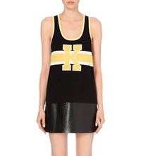 The Kooples Sleeveless Wool And Cotton Blend Top Bla75