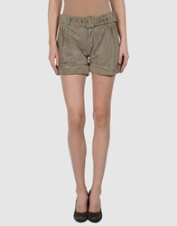 Boy By Band Of Outsiders Leatherwear Leather Trousers Women Military Green