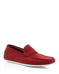 Hugo Boss C Traveso Driving Loafers Red