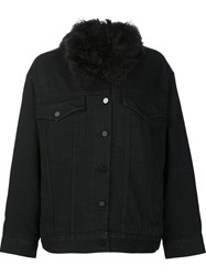 Alexander Wang Boyfriend Denim Jacket Black