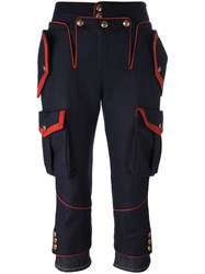 Dsquared2 'Livery Tenent Icon' Cropped Trousers Blue
