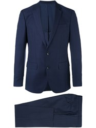 Hugo Boss Fitted Business Suit Blue