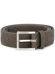 Orciani Square Buckle Belt Grey