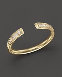 Zoe Chicco 14K Gold And Diamond Open Ring