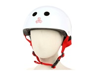 Triple Eight Little Tricky Dual Certified Youth Helmet With Eps Liner Junior White Gloss Athletic Sports Equipment