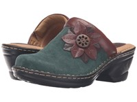 Comfortiva Lara Hunter Green Sturdy Brown Mahogany Women's Clog Shoes