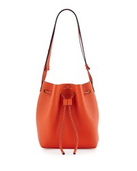 Elaine Turner Designs Elaine Turner The Reserve Saffiano Bucket Bag Persimmon Red