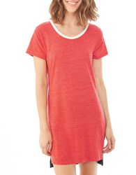 Alternative Apparel Eco Jersey Tee Shirt Dress Eco Cayenne