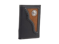 Mandf Western Nocona Cowboy Prayer Tri Fold Wallet Black Brown Bill Fold Wallet