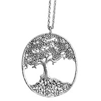 House Of Alaia Large Tree Of Life Filigree Necklace Oxidized Sterling Silver