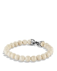 David Yurman Spiritual Beads Bracelet With River Stone Silver White