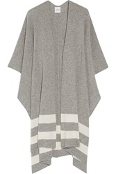 Madeleine Thompson Towton Striped Cashmere Wrap Gray