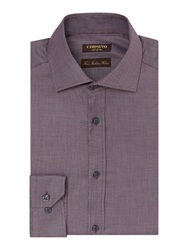 Corsivo Stilano Shirt With Cutaway Collar Purple