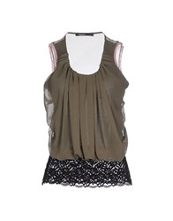 Pianurastudio Topwear Tops Women Military Green