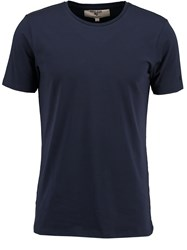 Garcia Crew Neck Cotton T Shirt Navy
