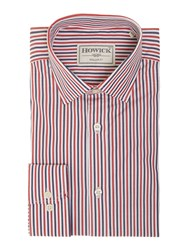 Howick Walden Two Stripe Bengal Shirt Red
