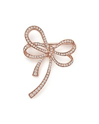 Bloomingdale's Diamond Bow Brooch In 14K Rose Gold .60 Ct. T.W.