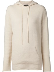 The Row 'Didi' Knit Hoodie Nude And Neutrals