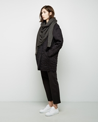 Christophe Lemaire Asymmetrical Scarf Moss Stone