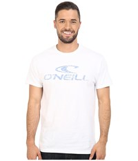 O'neill Supreme Short Sleeve Screen Tee White Blue Men's Short Sleeve Pullover