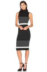 Twenty Bold Block Dress Black And White