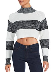Evil Twin Cropped Long Sleeve Sweater Off White Black