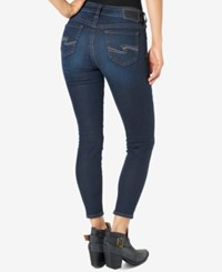 Silver Jeans Co. Suki Ankle Dark Blue Wash Skinny Indigo