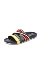 Band Of Outsiders Multicolor Strappy Shower Slides