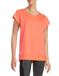Y.A.S Textured T Back Active Top Orange