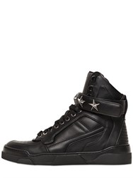 Givenchy Tyson Stars Leather High Top Sneakers