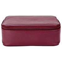 Jaeger Small Leather Trinket Box Cherry