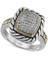 Effy Collection Effy Balissima Diamond Statement Ring 1 5 Ct. T.W. In Sterling Silver And 18K Gold